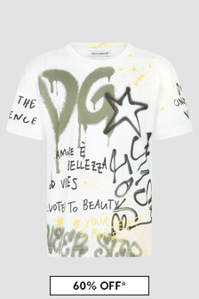 Dolce & Gabbana Kids Boys White T-Shirt