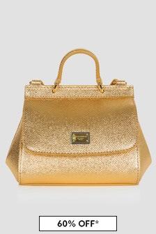 Dolce & Gabbana Kids Girls Bronze Bag