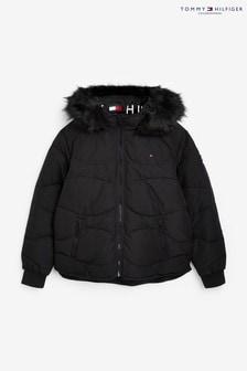 Tommy Hilfiger Tonal Faux Fur Puffer Jacket