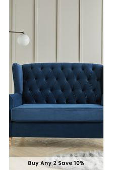Sherlock Button Small Sofa With Light Legs