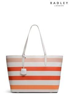 Radley London Chrisp Street Stripe Chalk Large Zip Top Tote Bag