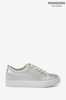 Monsoon Silver Shimmer Pearl Edge Trainers