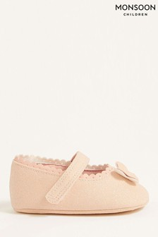 Monsoon Pink Shimmer Butterfly Booties