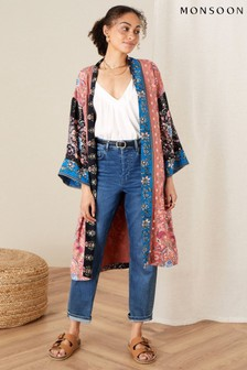 Monsoon Orange Floral Kimono in LENZING™ ECOVERO™