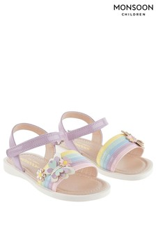 Monsoon Pink Baby Butterfly Rainbow Sandals