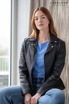 Lakeland Leather Newby Centre Zip Leather Biker Jacket
