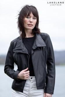 Lakeland Leather Martina Casual Leather Jacket In Black