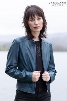 Lakeland Leather Thea Leather Jacket In Indigo Blue