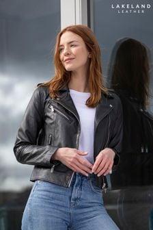 Lakeland Leather Grasmere Leather Biker Jacket In Black