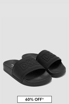 Dolce & Gabbana Kids Boys Black Sandals