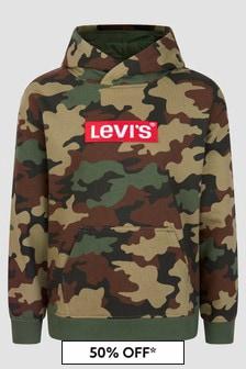 Levis Kidswear Boys Green Hoodie