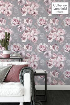 Catherine Lansfield Dramatic Floral Wallpaper