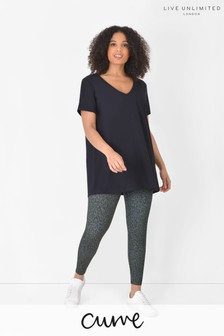 Live Unlimited Curve Green Animal Athleisure Leggings