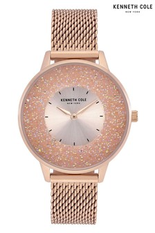 Kenneth Cole Rose Gold Mesh Strap Watch