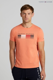 Tommy Hilfiger Orange Faded Graphic T-Shirt