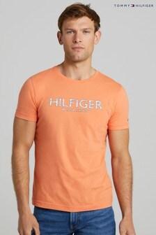Tommy Hilfiger Orange Hilfiger Palm Print T-Shirt