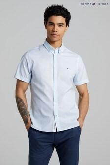 Tommy Hilfiger White Slim Short Sleeve Shirt