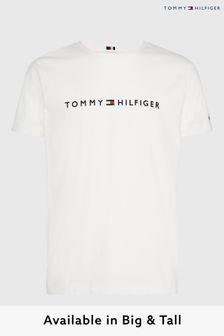 Tommy Hilfiger White Big & Tall Logo T-Shirt