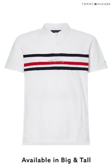 Tommy Hilfiger White Big & Tall Signature Polo
