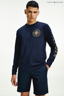 Tommy Hilfiger Blue Icon Roundall Long Sleeve T-Shirt