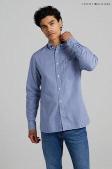 Tommy Hilfiger Blue Light Oxford Gingham Shirt