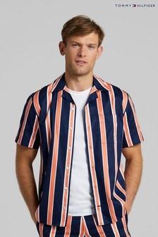Tommy Hilfiger Blue Retro Short Sleeve Shirt