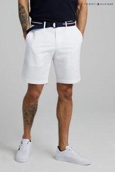 Tommy Hilfiger White Brooklyn Twill Shorts