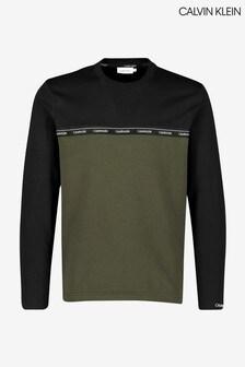 Calvin Klein Logo Stripe Long Sleeve T-Shirt
