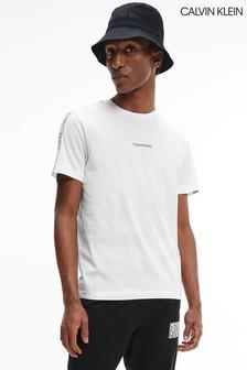 Calvin Klein White Essential Logo Tape T-Shirt