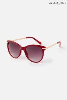 Accessorize Red Rubee Flat-Top Sunglasses