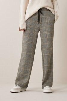 Wide Leg Jersey Trousers