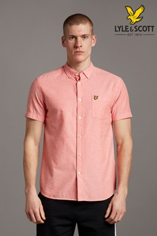 Lyle & Scott Short Sleeve Lightweight Slub Oxford Shirt