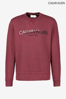 Calvin Klein Red Multi Embroidery Sweatshirt