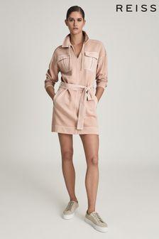 REISS Lila Twin Pocket Jersey Dress