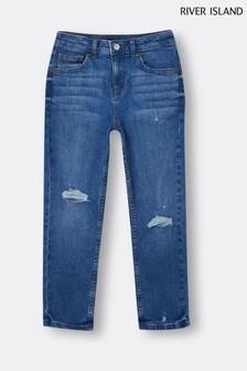 River Island Blue Medium Mid Wash Jake Jeans