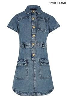 River Island Denim Utility Shirt Dress