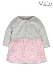 M&Co Pink Animal Dress and Cardigan
