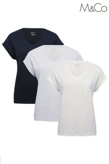 M&Co Multi Short Sleeve T-Shirts 3 Pack