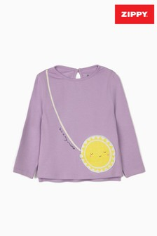 Zippy Lilac Universe Long Sleeve Top