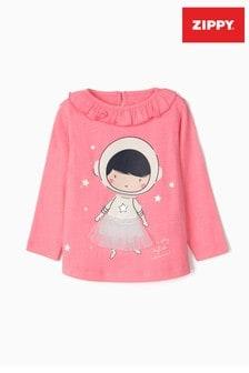 Zippy Pink Astronaut Ballerina Long Sleeve Top