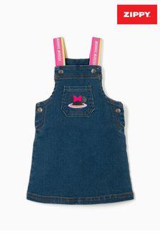 Zippy Blue Minnie Mouse Denim Pinafore Dress