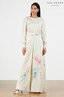 Ted Baker Natural Rioni Twist Waist Detail Maxi Dress