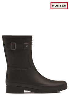 Hunter Black Refined Slim Fit Short Wellington Boots