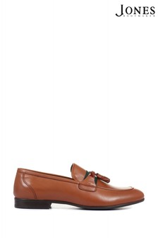 Jones Bootmaker Tan Pascal Men's Leather Tassel Loafers