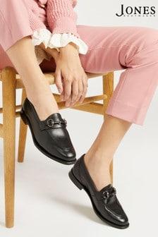 Jones Bootmaker Black Hummingbird Goodyear Welted Ladies Leather Loafers