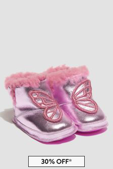 Sophia Webster Baby Girls Pink Butterfly Boots