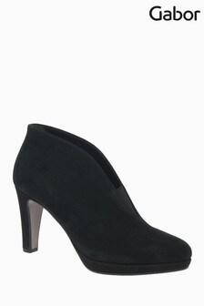 Gabor Amien Black Suede Ankle Shoes