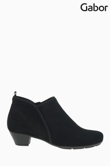 Gabor Trudy Black Suede Ankle Boots