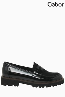 Gabor Simone Black Patent/Suede Loafers