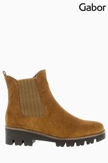 Gabor Newport Cognac Suede Chelsea Boots